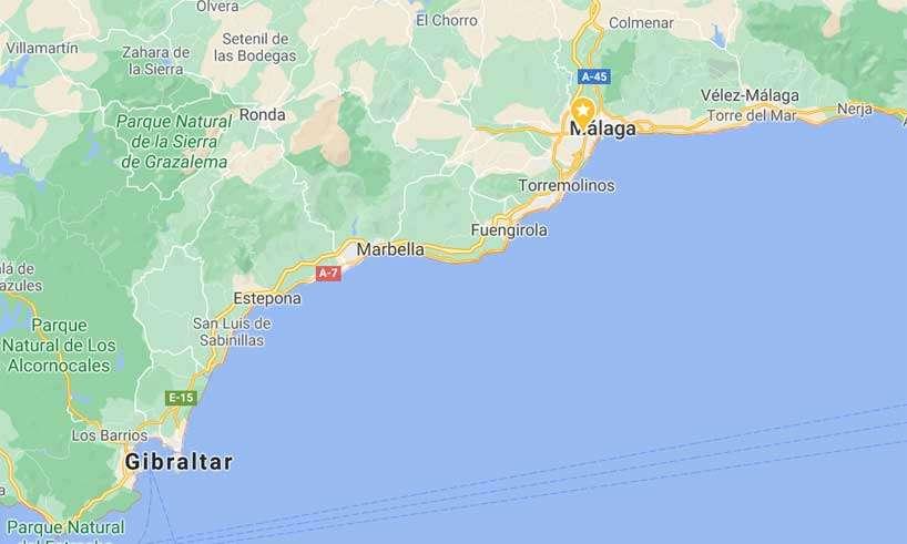 Var går kommungränserna på Costa del Sol