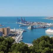 Malaga port hamn