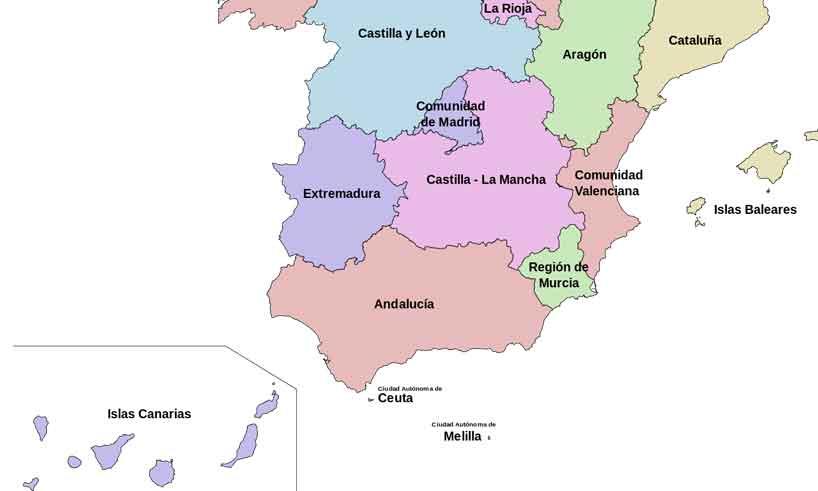 Regioner och Provinser i Spanien