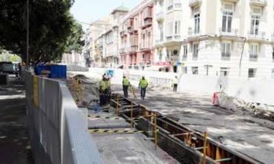 Tunnelbanan närmar sig Malaga centrum