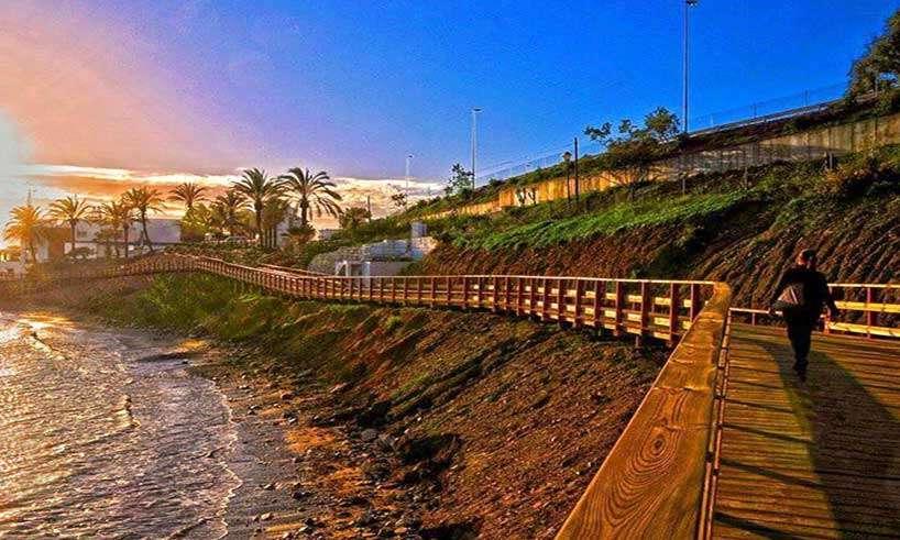 La Senda Litoral-18 mil strandpromenad