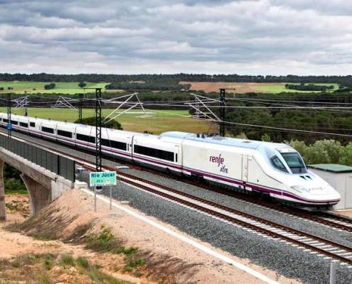 Resa med tåg i Spanien