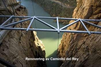 Renovering av Camino del Rey